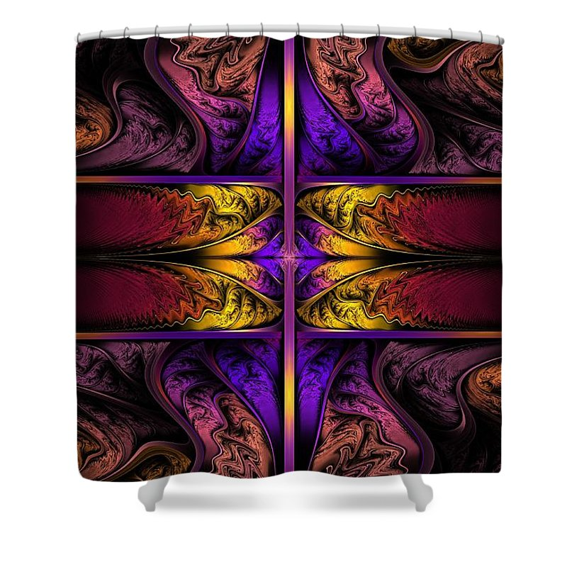 Apo Shower Curtain featuring the digital art Dreamstate Alpha by Lyle Hatch