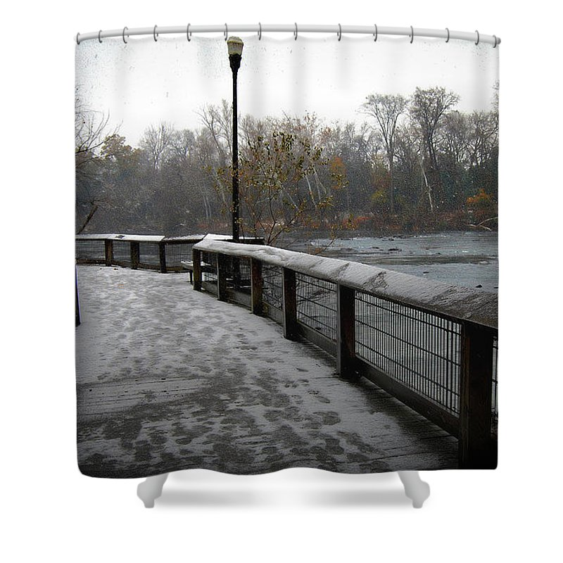 Scenic Tours Shower Curtain featuring the photograph Dreamy Winter Walk by Skip Willits