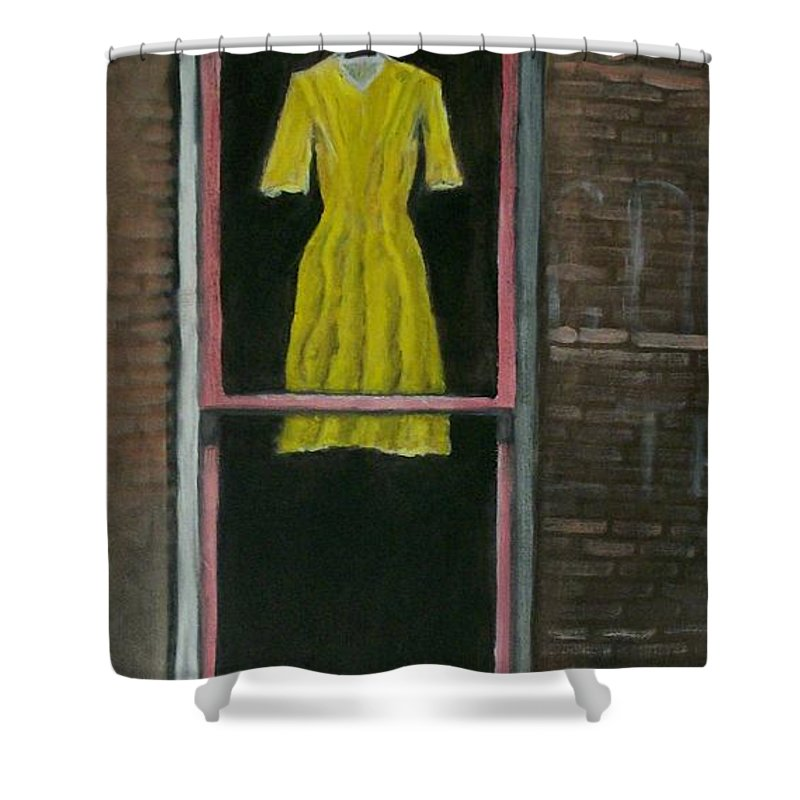 Original Shower Curtain featuring the painting Dress Up by Stephen King