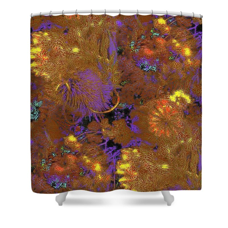 Dried Shower Curtain featuring the digital art Dried Delight 2 by Tim Allen