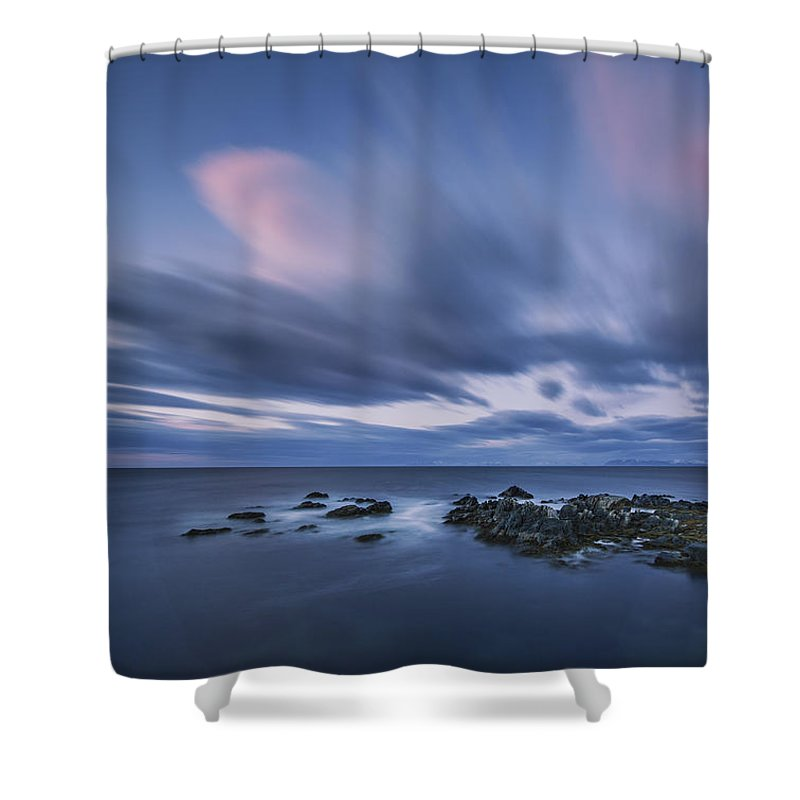 Frank Olsen Shower Curtain featuring the photograph Drifting Clouds I by Frank Olsen