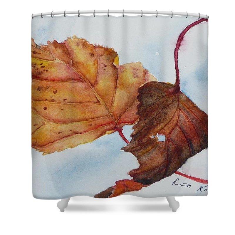 Fall Shower Curtain featuring the painting Drifting by Ruth Kamenev