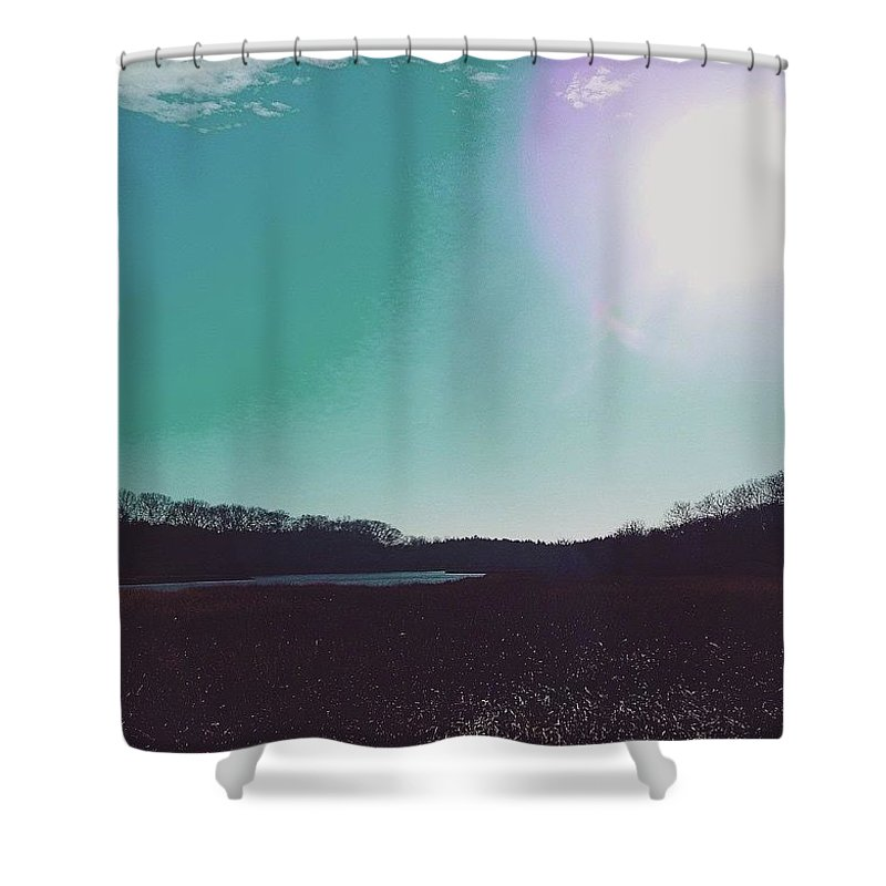 Backroads Shower Curtain featuring the photograph Take The Long Way Home by Kate Arsenault