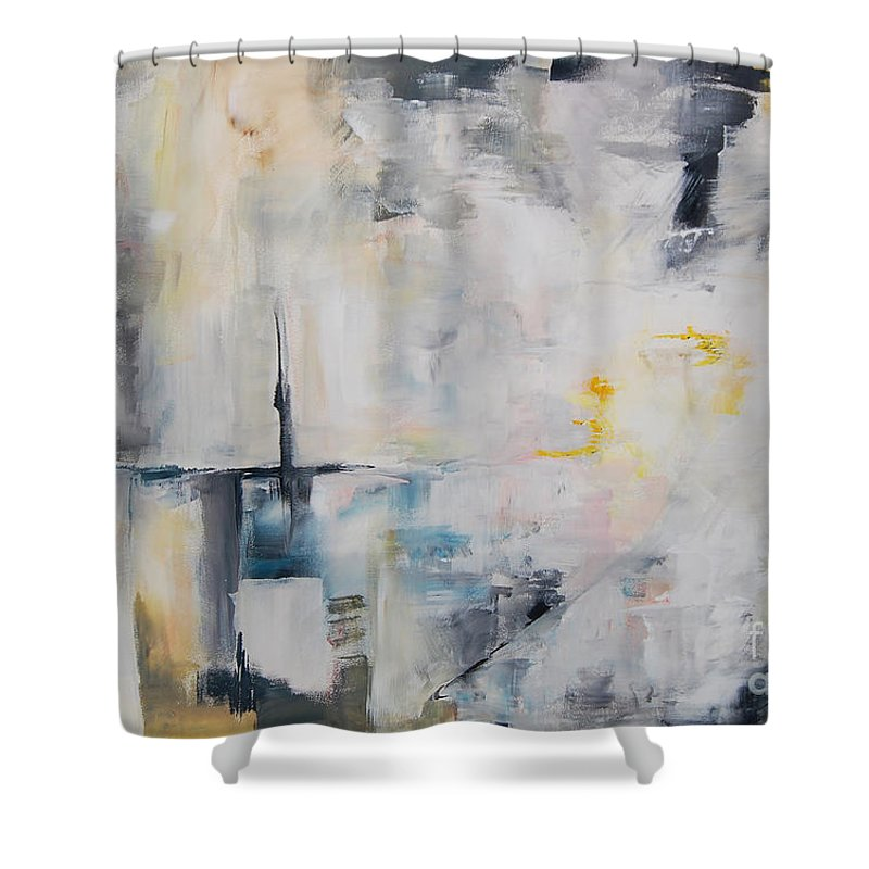 Love Shower Curtain featuring the painting Driving Force - Story Of A Love by Eszter Benyo