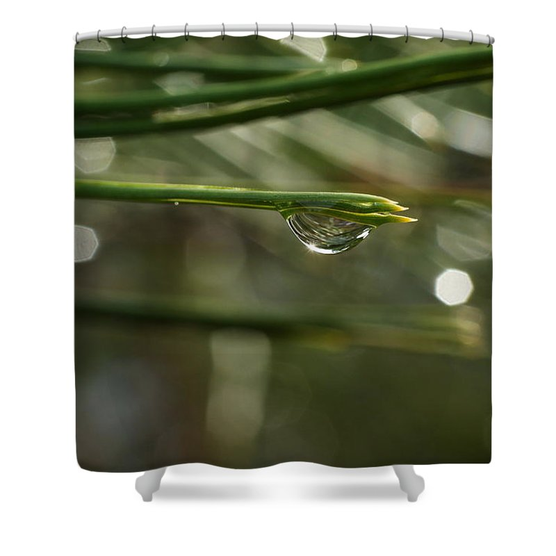 Water Shower Curtain featuring the photograph Droplet by Jeff Swan