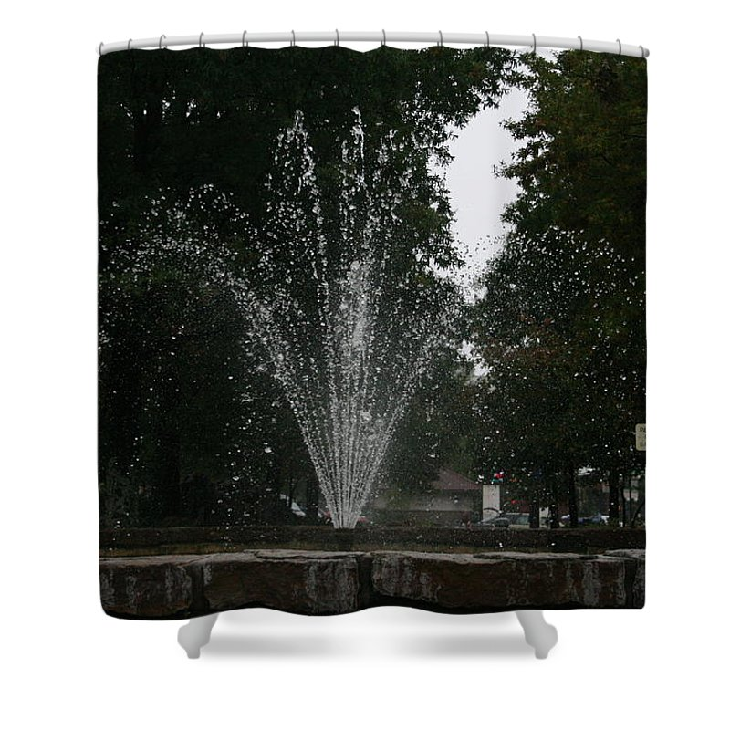 Water Shower Curtain featuring the photograph Drops Of Fountain by Lynn Michelle