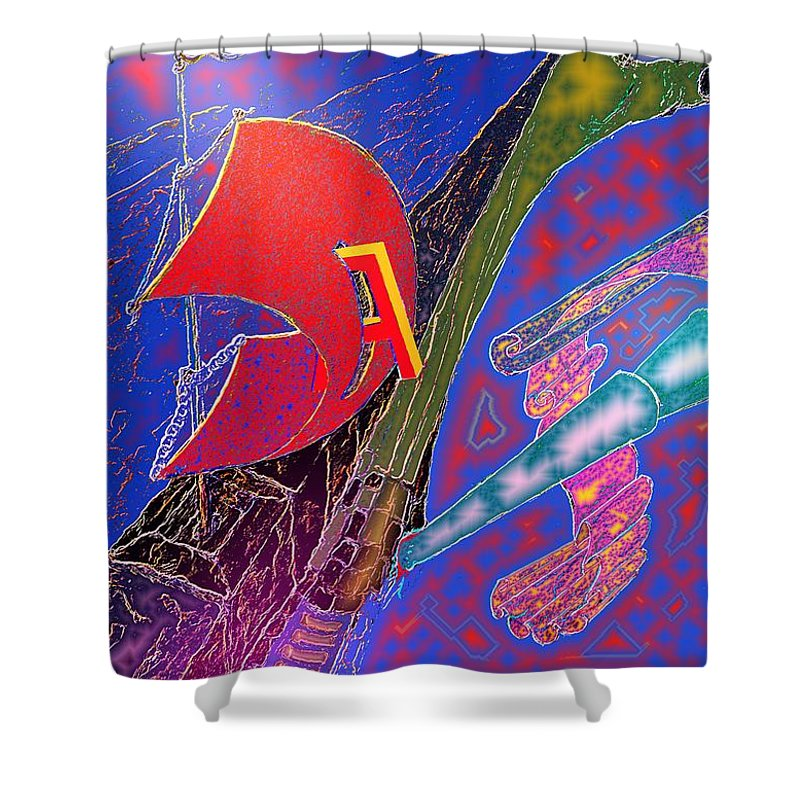 Drugs Shower Curtain featuring the digital art Drugs by Helmut Rottler
