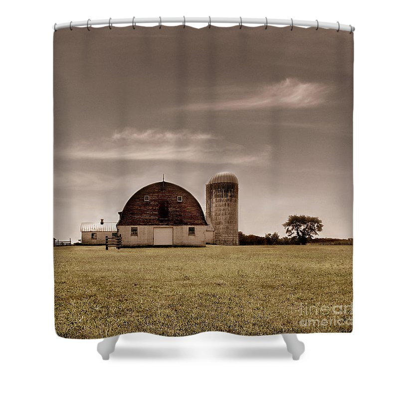 Farm Shower Curtain featuring the photograph Dry Earth Crumbles Between My Fingers And I Look To The Sky For Rain by Dana DiPasquale