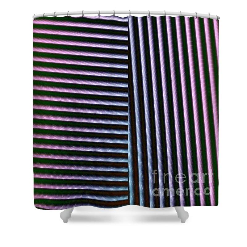 Digital Art Shower Curtain featuring the digital art Duality II by Dragica Micki Fortuna