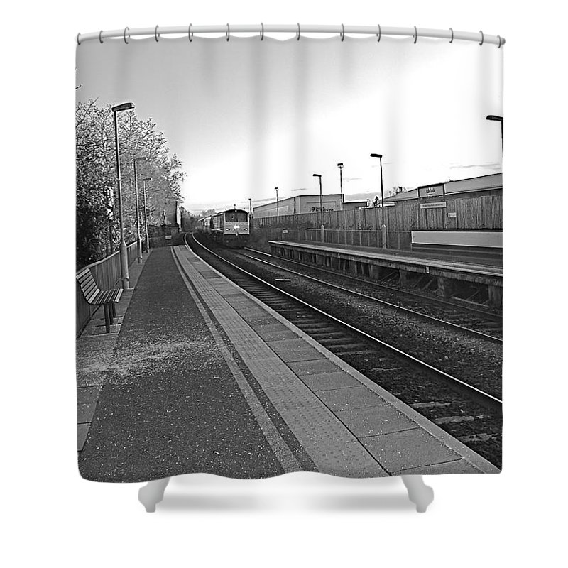 Enterprise Shower Curtain featuring the photograph Dublin To Belfast Inbound by Aunidan Christi