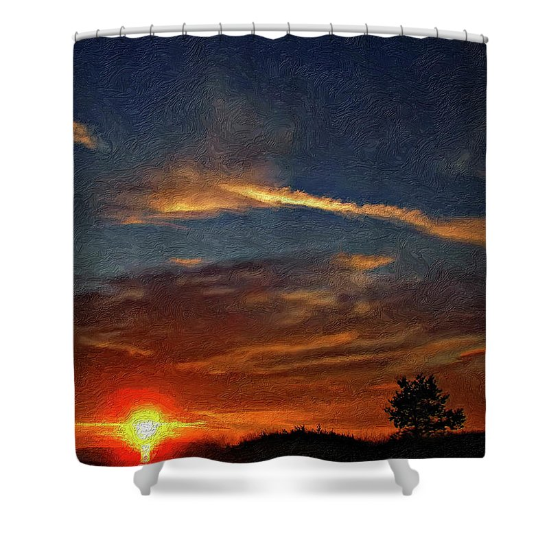 Sauble Beach Shower Curtain featuring the photograph Dune Dreaming Impasto by Steve Harrington