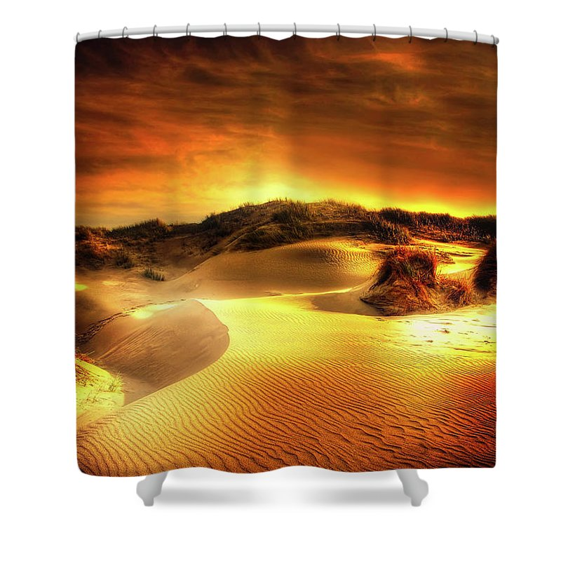Sunset Shower Curtain featuring the photograph Dunes At Sunset by Kordi Vahle