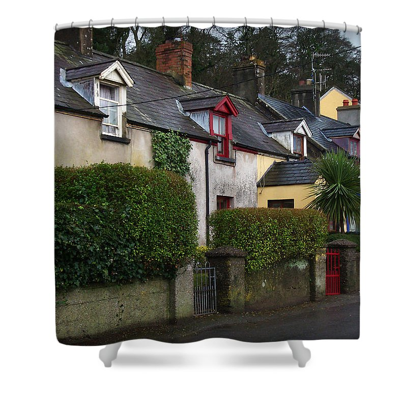 Ireland Shower Curtain featuring the photograph Dunmore Houses by Tim Nyberg