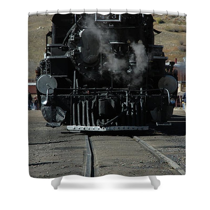 Steam Shower Curtain featuring the photograph Durango Silverton Narrow Guage by Jerry McElroy