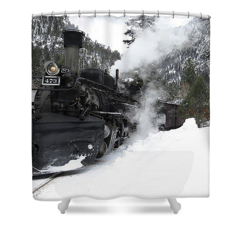 Winter Shower Curtain featuring the photograph Durango Silverton Railway by Carol Milisen