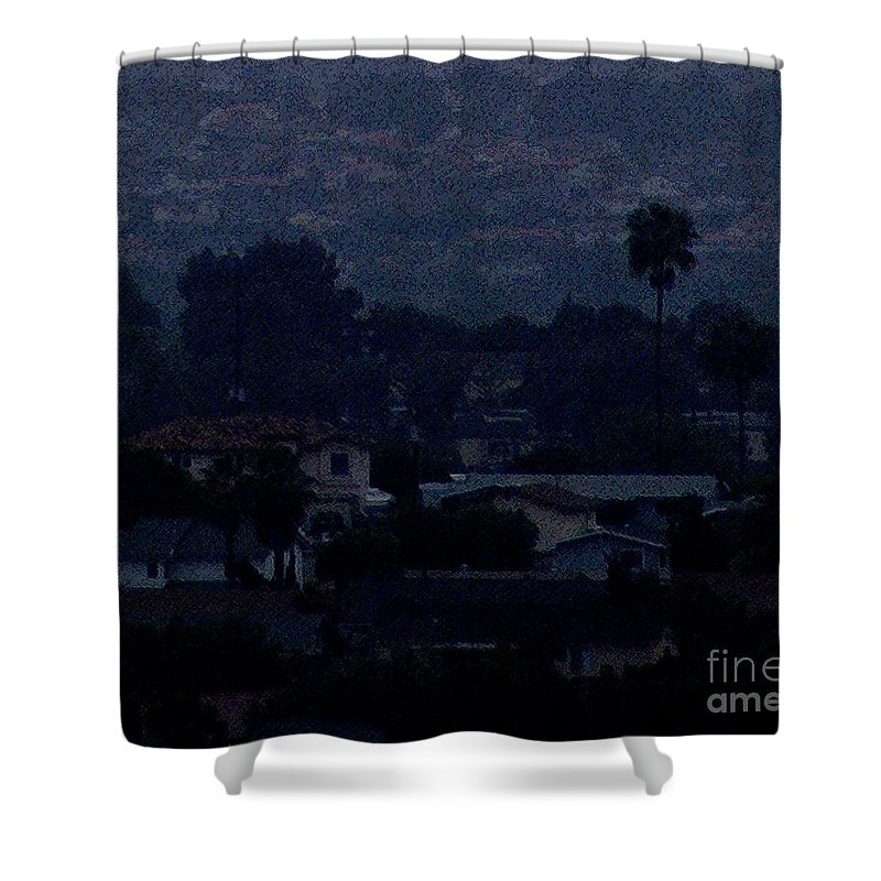 California Shower Curtain featuring the photograph Dusk by Linda Shafer