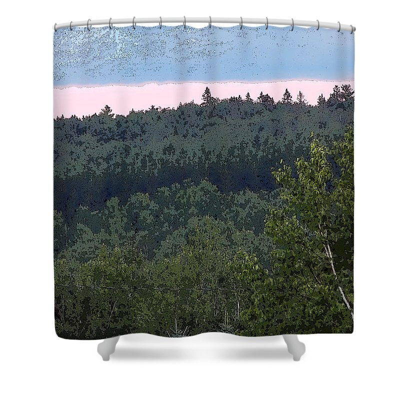 Landscape Shower Curtain featuring the photograph Dusk On The Hill by William Tasker