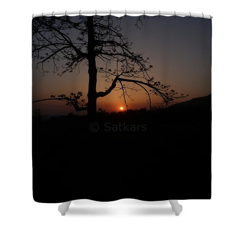 Landscape Shower Curtain featuring the photograph Dusk by Satish Kumar