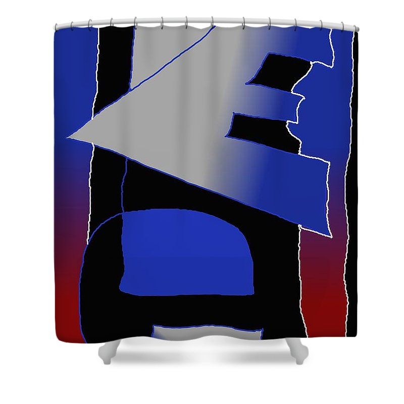 Eu Shower Curtain featuring the digital art E-likes-eu by Helmut Rottler