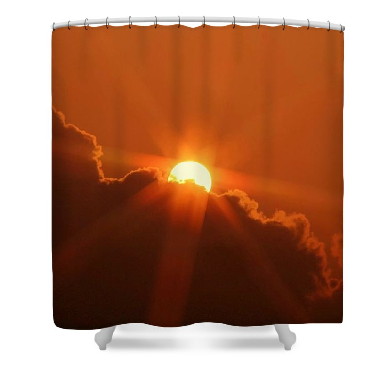 Sunset Shower Curtain featuring the photograph Each Day by Mitch Cat