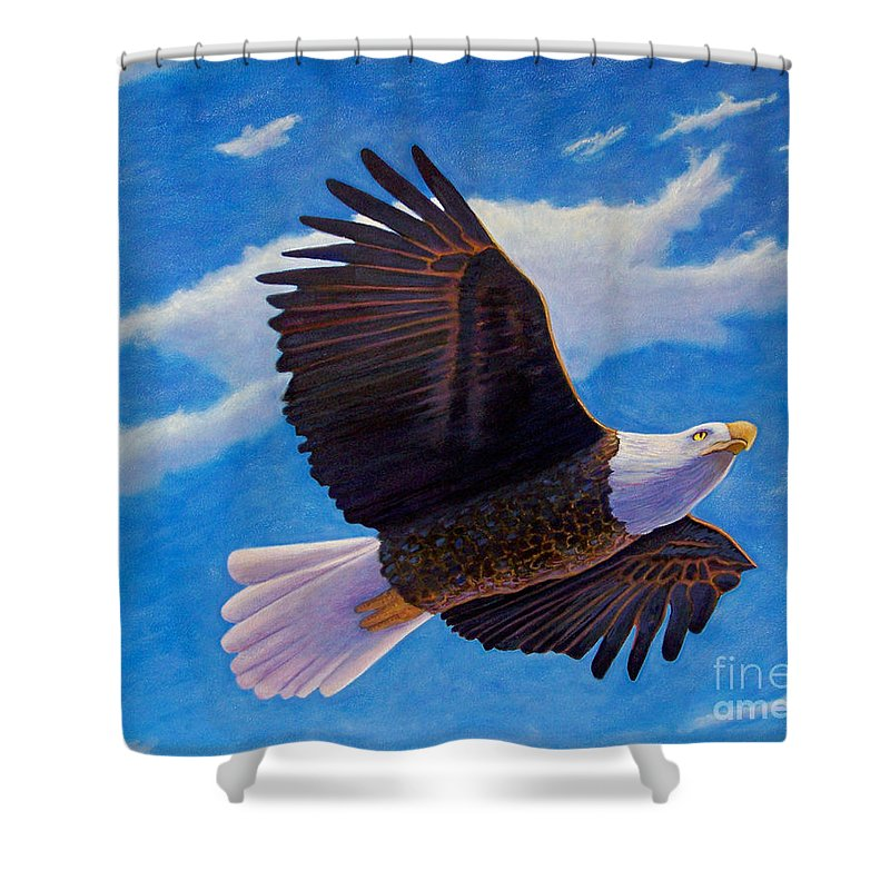 Eagle Shower Curtain featuring the painting Eagle Heart II by Brian Commerford