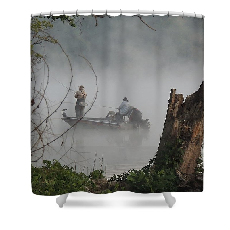 Fishermen Shower Curtain featuring the photograph Early Morning Fishing by Adlai Neubauer