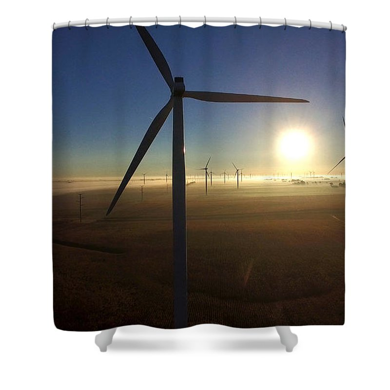 Landscape Shower Curtain featuring the photograph Early Morning Flight 2 by Jim Finch
