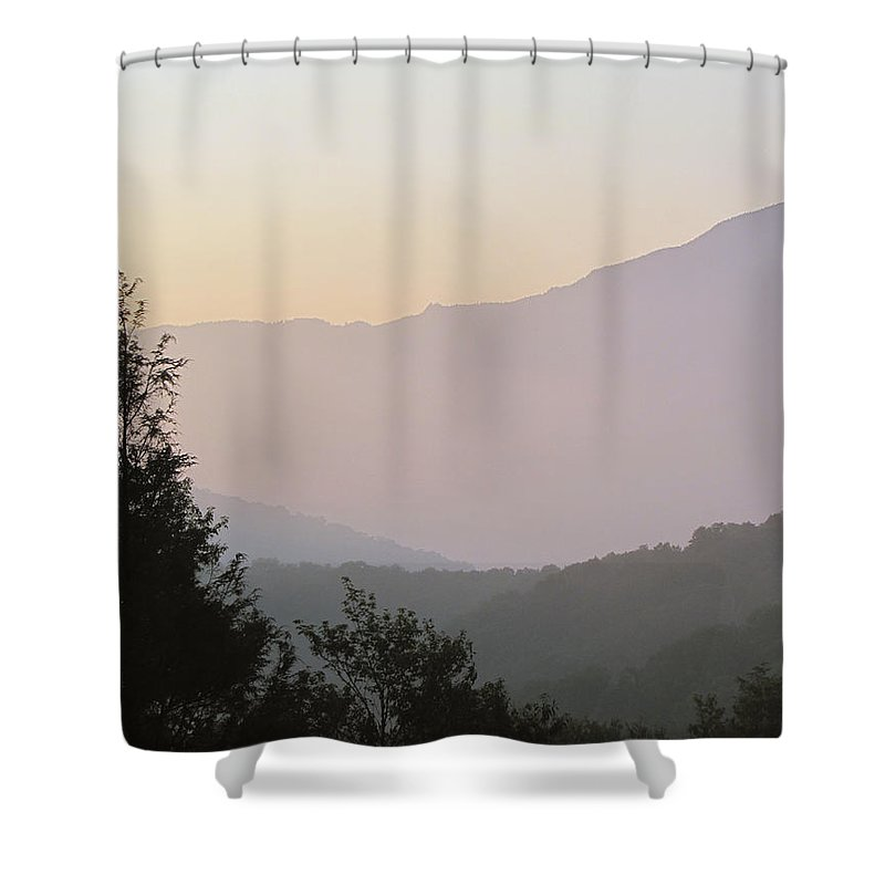 Dawn Shower Curtain featuring the photograph Early Morning by Gary Adkins