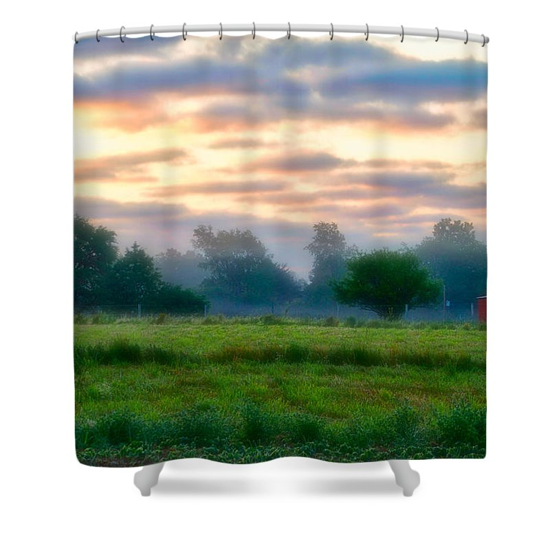 Agriculture Shower Curtain featuring the photograph Early Morning Warmth by Thomas Woolworth