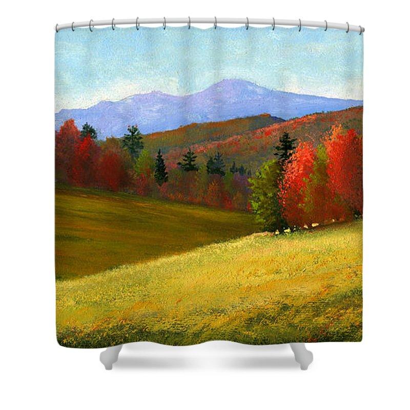 Landscape Shower Curtain featuring the painting Early October by Frank Wilson
