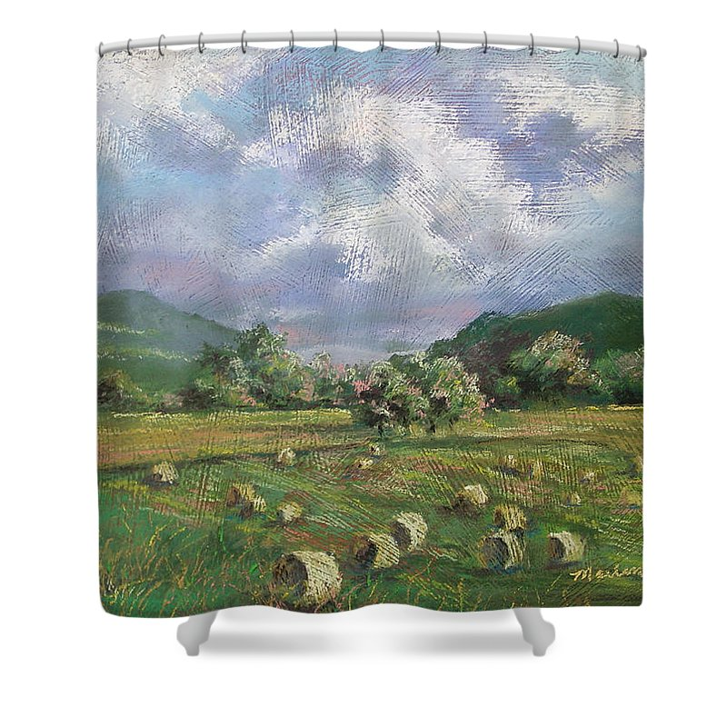 Pastel Shower Curtain featuring the painting Early Summer Cutting by Marlene Gremillion