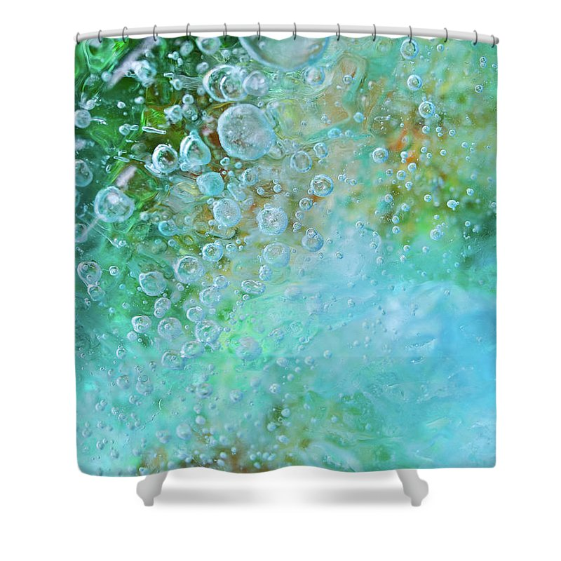 Abstract Shower Curtain featuring the photograph Earth Bubble by Shannon Workman