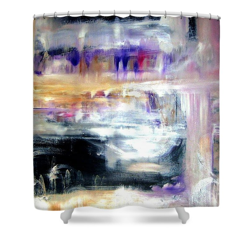 Glow Shower Curtain featuring the painting Earthen Vessel by Sandy Ryan