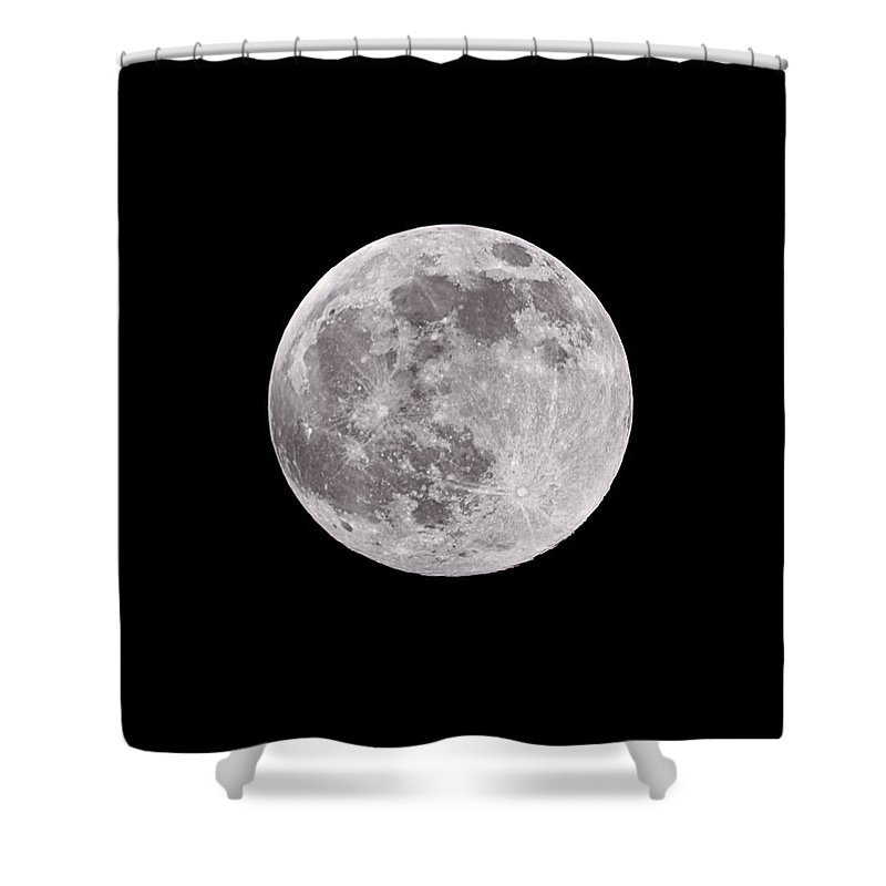 Composite Shower Curtain featuring the photograph Earth's Moon by Steve Gadomski