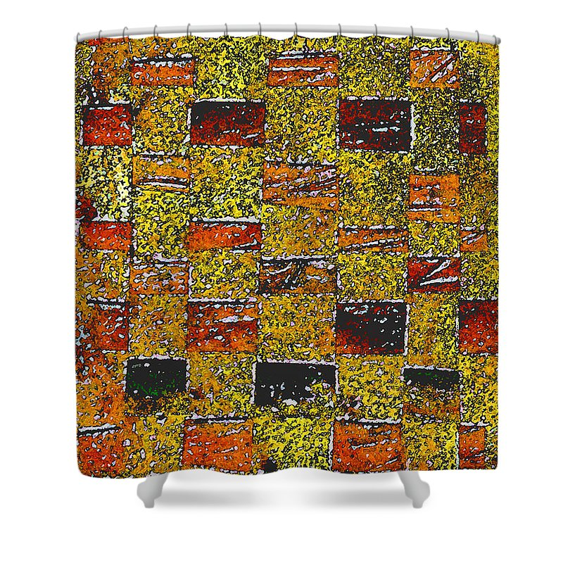 Weaving Shower Curtain featuring the painting Earths Tapestry by Wayne Potrafka