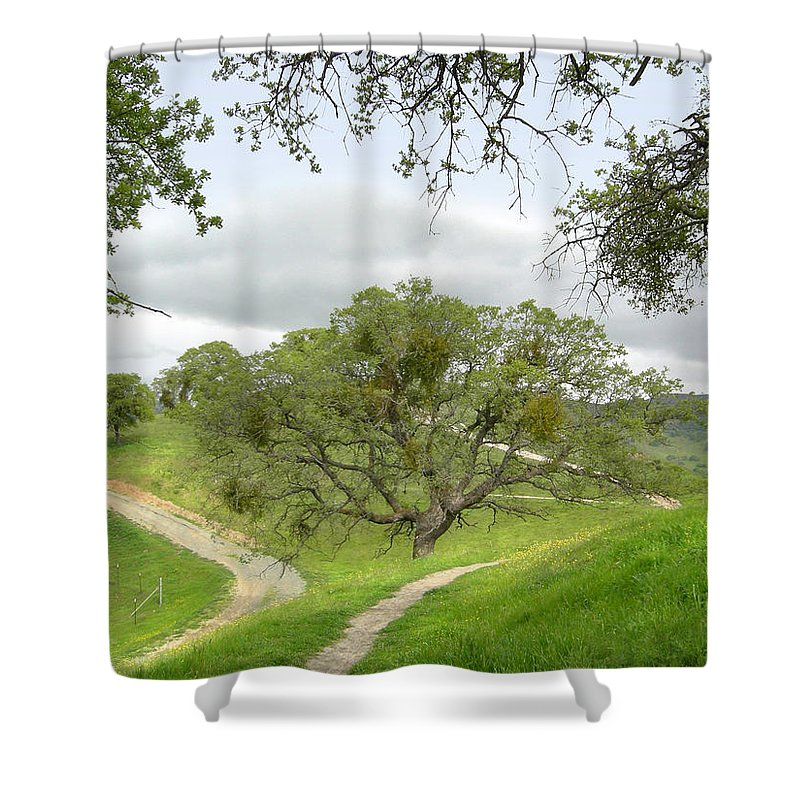 Landscape Shower Curtain featuring the photograph East Ridge Trail - Spring by Karen W Meyer