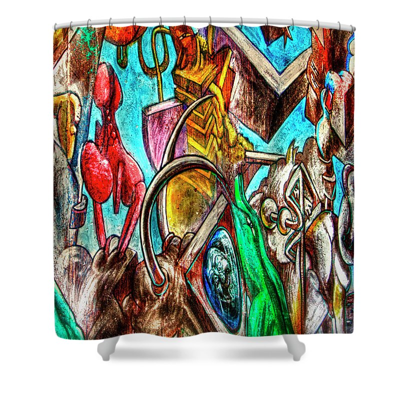Art Shower Curtain featuring the photograph East Side Gallery by Joan Carroll