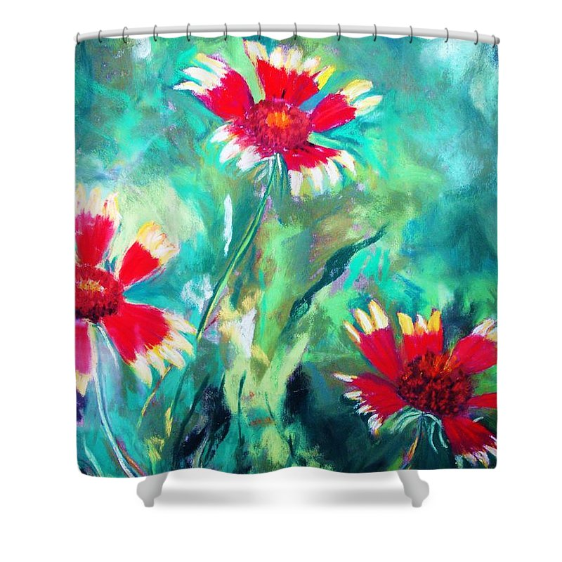 Flowers Shower Curtain featuring the painting East Texas Wild Flowers by Melinda Etzold