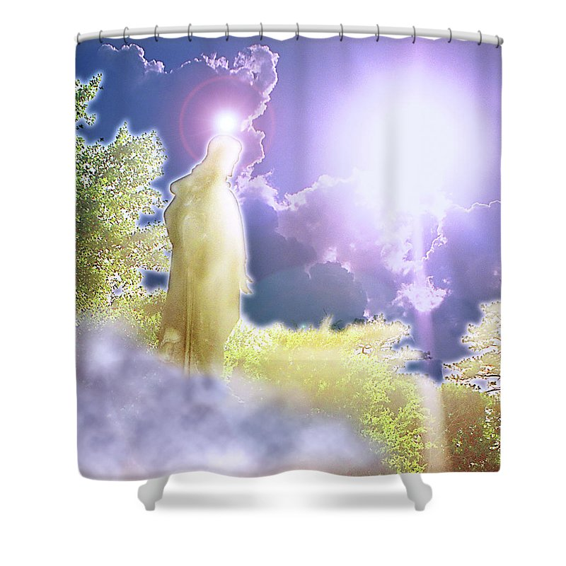 Jesus Shower Curtain featuring the photograph Easter Joy by Marie Hicks