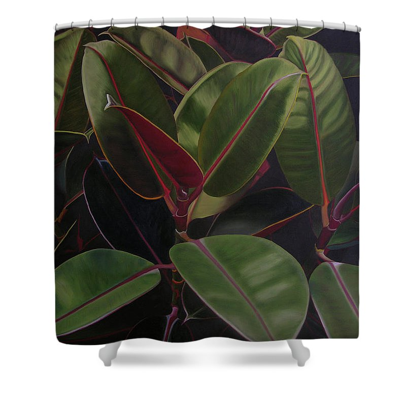 Landscape Shower Curtain featuring the painting Easter Sunday by Thu Nguyen