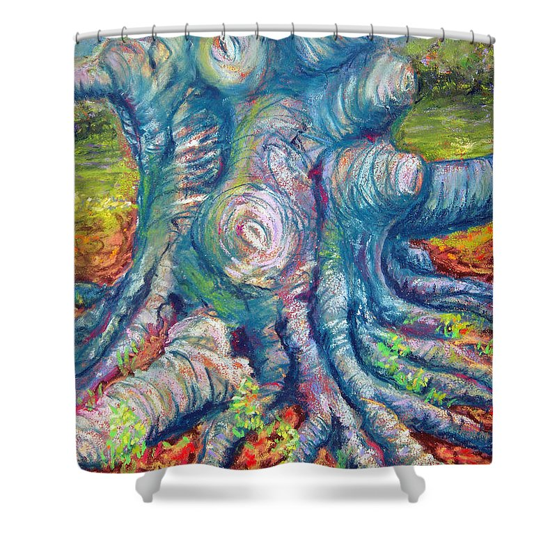 Eastern Beech Tree Shower Curtain featuring the painting Eastern Beech Tree by Laurie Paci