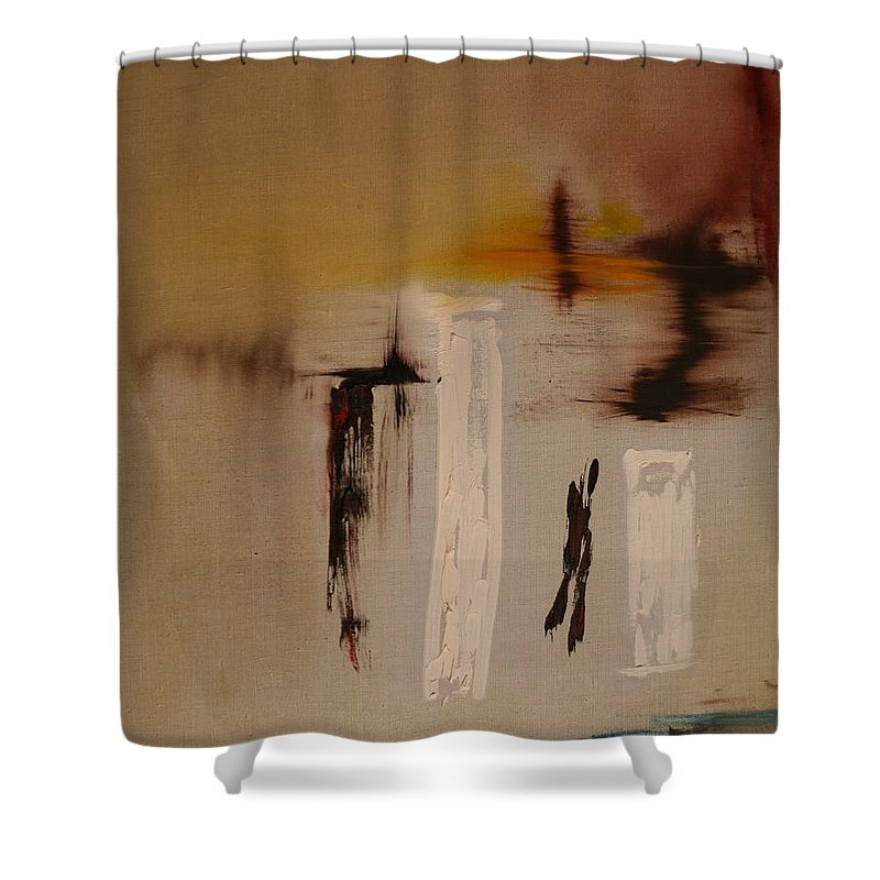 Abstract Shower Curtain featuring the painting Easy by Jack Diamond