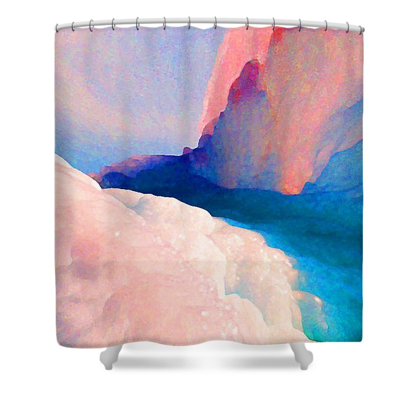 Abstract Shower Curtain featuring the photograph Ebb and Flow by Steve Karol
