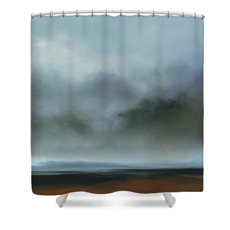 Lc Bailey Shower Curtain featuring the mixed media Echo Of Dreams by Lonnie Christopher