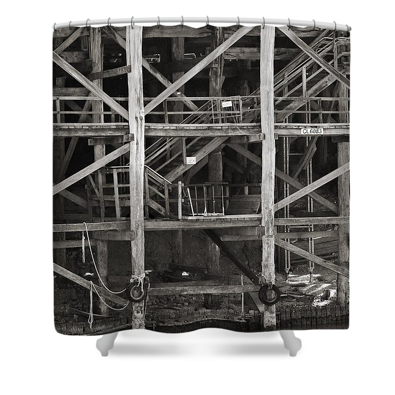 Wharf Shower Curtain featuring the photograph Echuca Wharf by Kelly Jade King