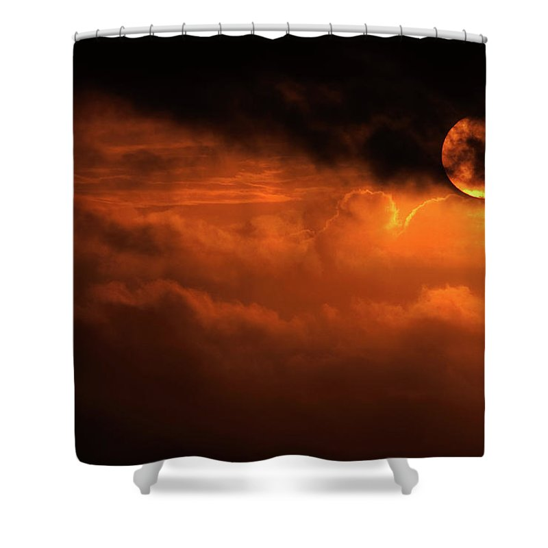 Sunset Shower Curtain featuring the photograph Eclipse by Andrew Paranavitana