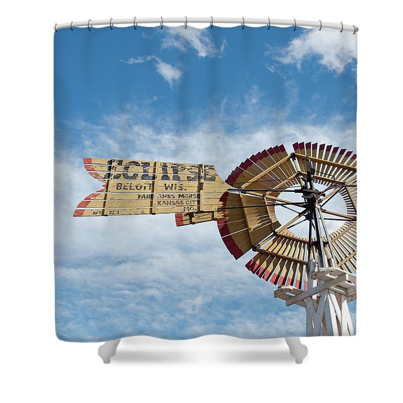 Windmill Shower Curtain featuring the photograph Eclipse by David Arment