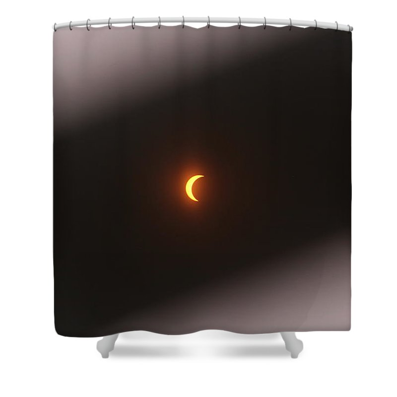 Eclipse Shower Curtain featuring the digital art Eclipse by Rodney Gray