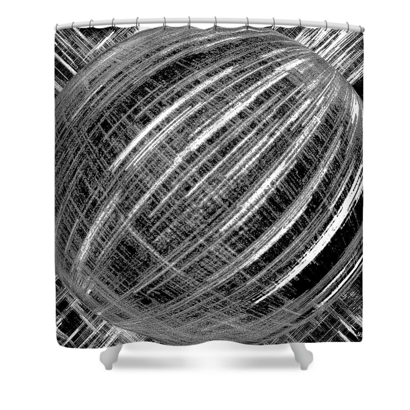 Black & White Shower Curtain featuring the digital art Economic Bubble by Will Borden
