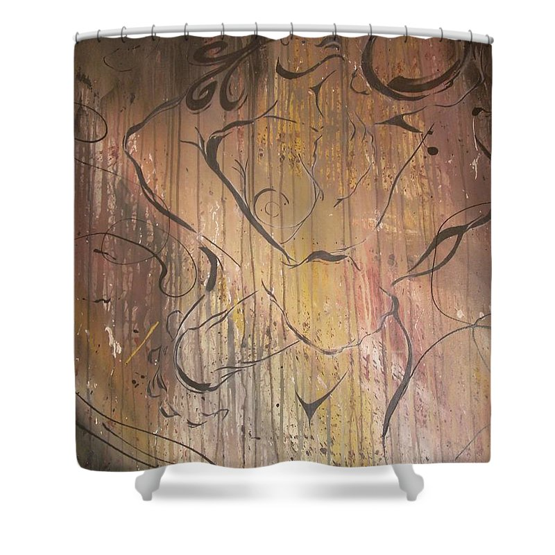 Ecstacy Shower Curtain featuring the painting Ecstacy by Hasaan Kirkland